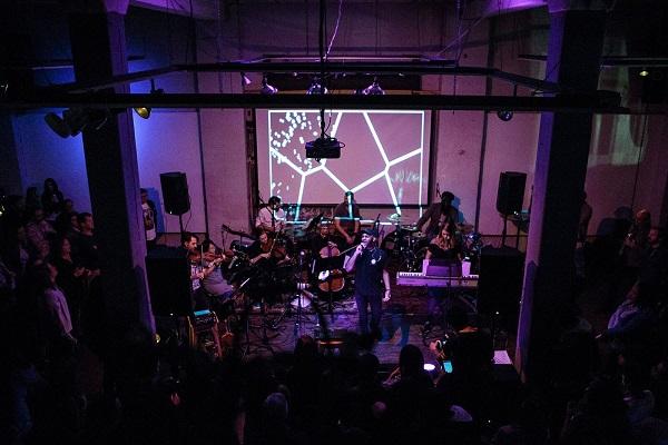 "Andrew Josyln, Will Jordan and the Passenger String Quaret performing ""Plastic Heaven"""